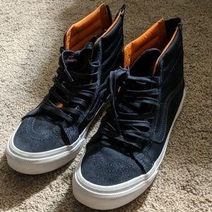 Vans off the wall zip up sneakers